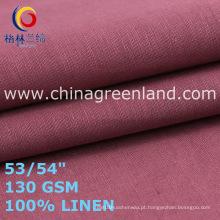 Linho tecido liso para roupas de vestuário mulher (GLLML467)