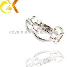 Jóias de aço inoxidável unisex cadeia de ligação de prata conectado pulseira