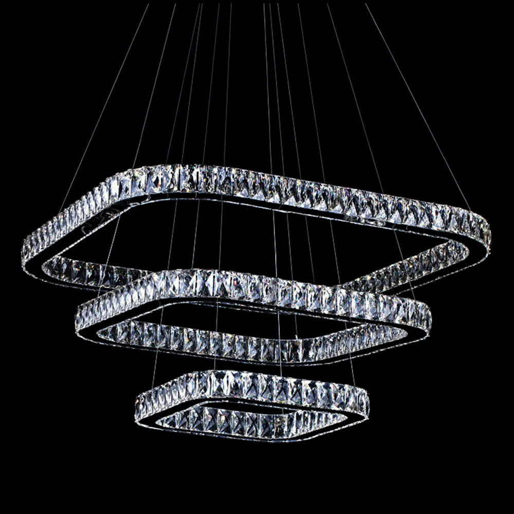 rectangular contemporary crystal ceiling chandelier