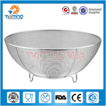 stainless steel mesh fruit basket / kitchen sieve / vegetable storage basket