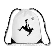 bolsa mochila con cordón de plástico