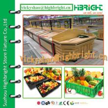 China vegetable wood rack