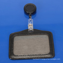 Eco-friendly high quality office leather ID card holder