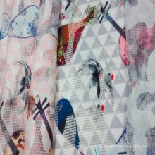 Mode-Polyester gedruckt Mesh Net Kleidungsstück / Home Textilgewebe