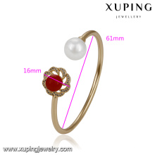 51752 xuping copper alloy jewelry ,luxury fashion pearl bangle