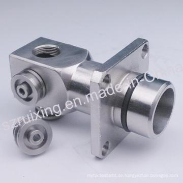 Nach Maß CNC, das Teil des Edelstahl-Metallkopfes maschinell bearbeitet
