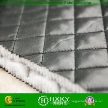 Polyester Ripstop Pattern Quilted Fabric for Jacket or Lining