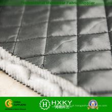 Tecido de poliéster Ripstop padrão acolchoado para jaqueta ou forro