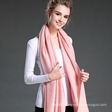 Women in Winter to Keep Warm Plain Pink Polyester Scarf Shawl