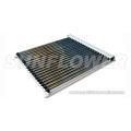 Evacuated flat panel solar collectors