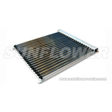 Evacuated flat panel solar collectors