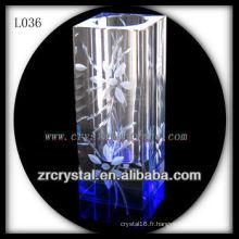 Beau vase en cristal L036