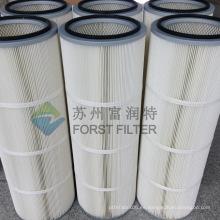 FORST Cartucho de producción de material de filtro cilíndrico de polvo de alta eficiencia