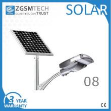 Type de fente de réverbère solaire de 40W PV LED