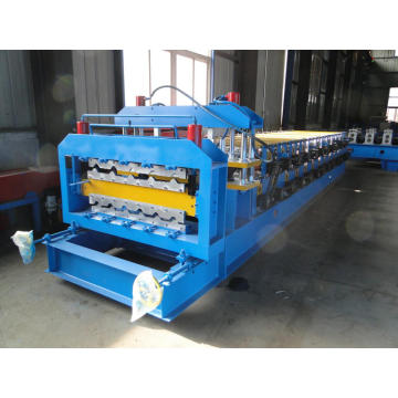 Glazed และ C10 คู่ชั้น Double Decker Roll Forming Machine