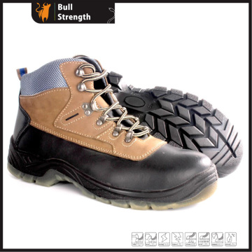 Transparent PU Outsole Safety Shoe with Genuine Leather (SN5383)