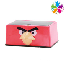 Rectangle Fashion Bird Design Plastic Tissue Box (ZJH046)