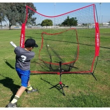 Portable folding baseball softball batting net