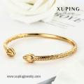 51079 Bracelet en or de Dubaï, bijoux fantaisie de couleur or