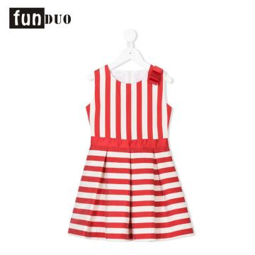 falda de raya roja vestido de niña hermosa raya roja de la raya vestido de niña hermosa