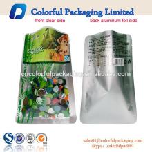 benutzerdefinierte gedruckt klar vakuum versiegelt lebensmittel lagerung kunststoff verpackungsbeutel