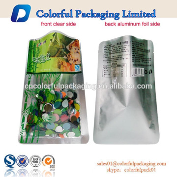 custom printed clear vacuum sealed food storage plastic packaging bag