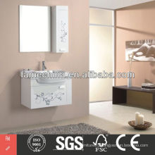 Flower PVC Bathroom Cabinet Wall Mounted PVC Bathroom Cabinet