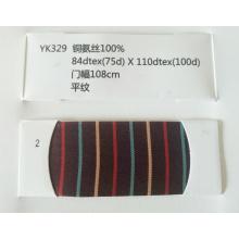 Tela de alta calidad 100% Cupro baja brillante para el forro de la prenda