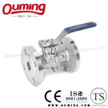 2PC Stainless Steel Flanged Ball Valve with Handle