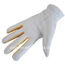Venta caliente / guantes de golf de cuero coloreados al por mayor