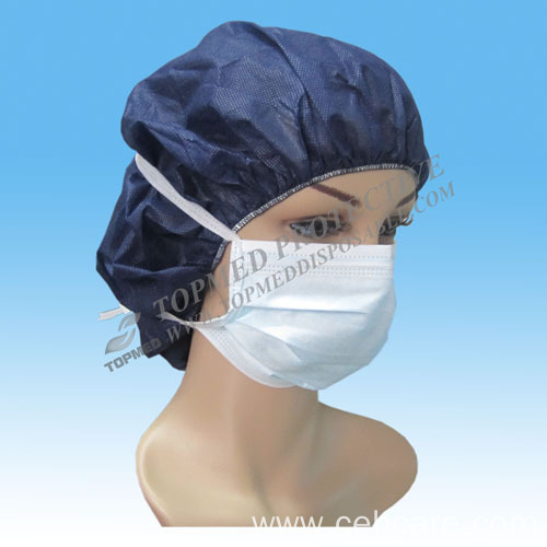 Disposable Nonwoven Face Mask with Tie on