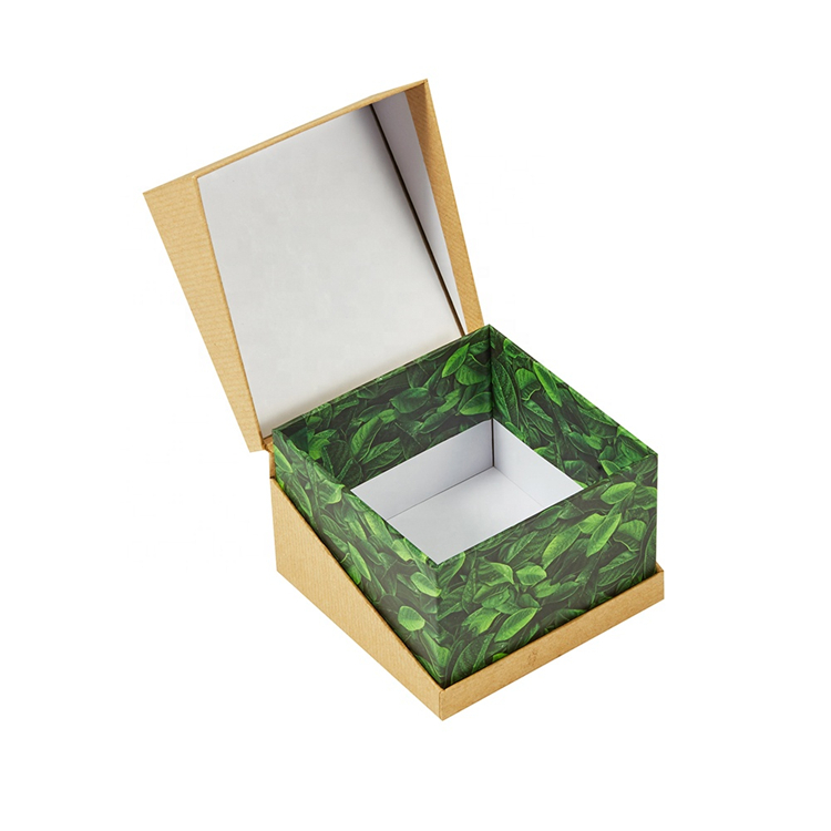 Hinged Lid Handmade Paper Gift Box For Soap