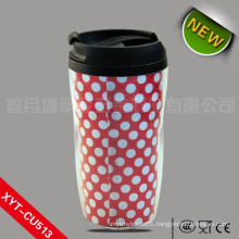 270ml/300ml/350ml Plastic coffee cup, plastic cup with lid, plastic cup printing machine
