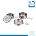Stainless Steel Pot Pans Camping Cook Set for Picnic
