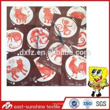 Custom logo Китайская ткань для чистки микрофибры зодиака, специальная чистящая ткань из микрофибры с печатью