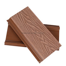 Waterproof Customized Colors 3D Embossed Exterior Wall Panel Siding Plank Wood Plastic Composite Outdoor WPC Wall Cladding