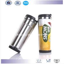 Insérer de Starbucks d'inox intérieure en plastique externe café Travel Mug/gobelet avec papier