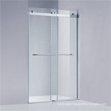 Frameless Sliding Shower Screen with 304#SUS Hardware (A-KW021-D)