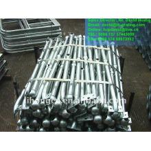 Galvanizado acero industrial pasamanos metálicos puntales