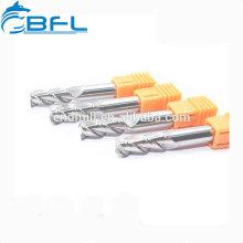 Fraise de fraisage de BFL / fraise en bout de cannelure du carbure 3 de Changzhou pour l'alliage d'aluminium