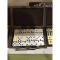 venta al por mayor doble 6 plástico dominoes juego rally