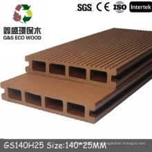 NUEVO! Wpc hueco tablero de cubierta, madera compuesto compuesto de plástico, wpc ingeniería de pisos