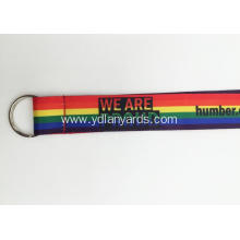 Custom Fashionable rainbow Dye Sublimation Lanyard