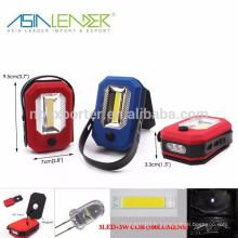 Produits Asia Leader BT-4811 3LED + 3W COB 500LUMENS Lampes de travail à LED rechargeables