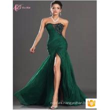 Guangdong mujeres sexy sirena Slit Sexu espalda abierto vestido de noche verde Partido Club Dress