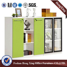 4 Doors Melamine File Cabinet Bookcase with Bookshelf