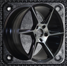Straight rim 17 18 inch alloy wheel