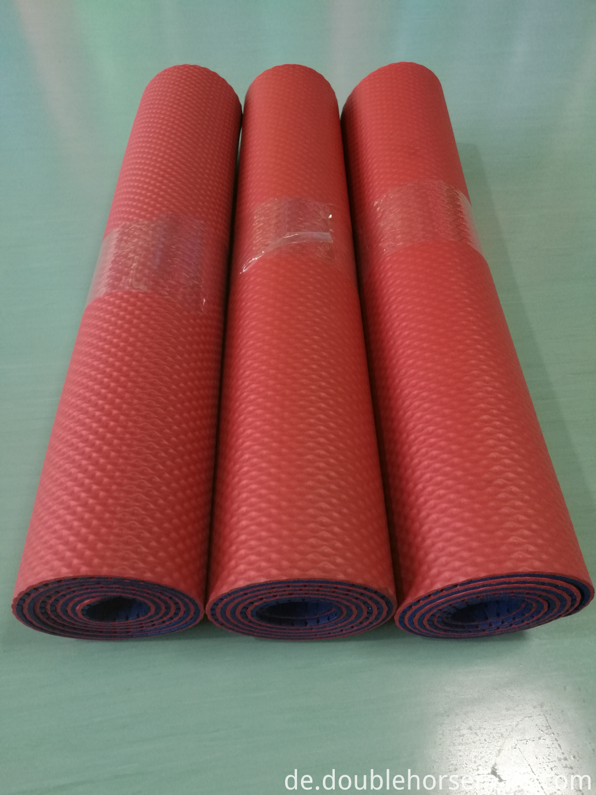 NBR double color perforated exercise mat