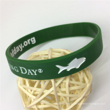 Eco-Friendly High Quality Silicone Custom Debossed Wristbands