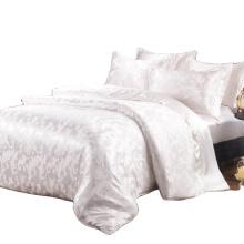 novo conjunto de roupa de cama de seda tecida em jacquard de luxo